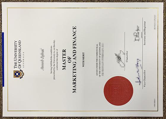Order fake UQ diploma