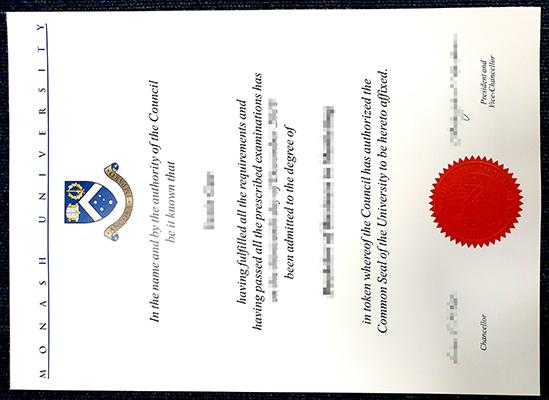 Make Monash University false diploma