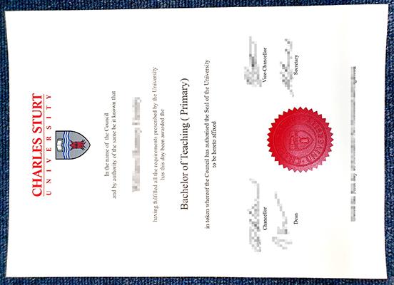 Buy fake CHARLES STURT University diploma