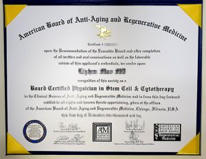 The A4M fake certificate sample