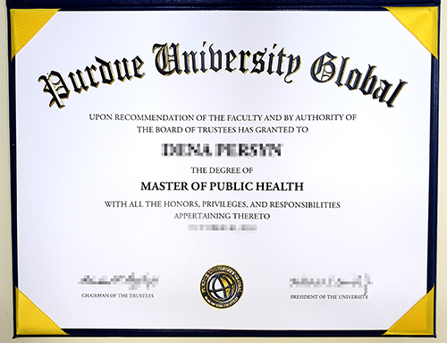 Copy the original diploma from Purdue