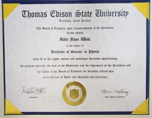 The Thomas Edison State College fake degree