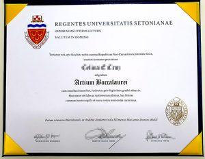 The SHU fake diploma sample
