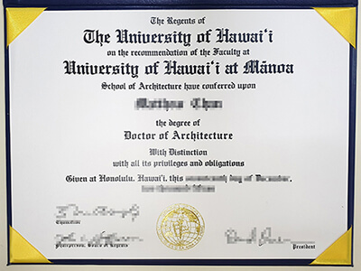 Get A Fake University of Hawaii at Manoa Diploma