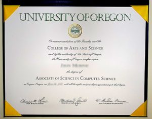 False University of Oregon diplpoma sample
