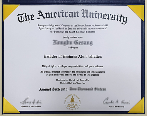 Purchase an American University high imitation diploma