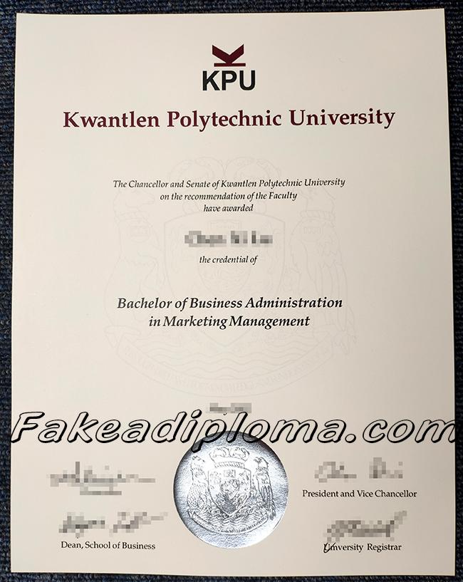 KPU fake diploma, Kwantlen Polytechnic University, Colombia university fake certificate.