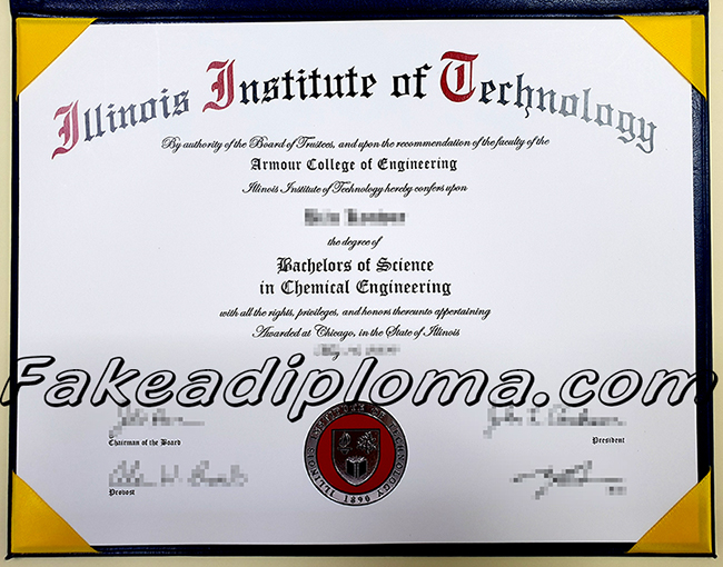 Fake Illinois Institute of Technology Diploma, fake IIT degree certificate.