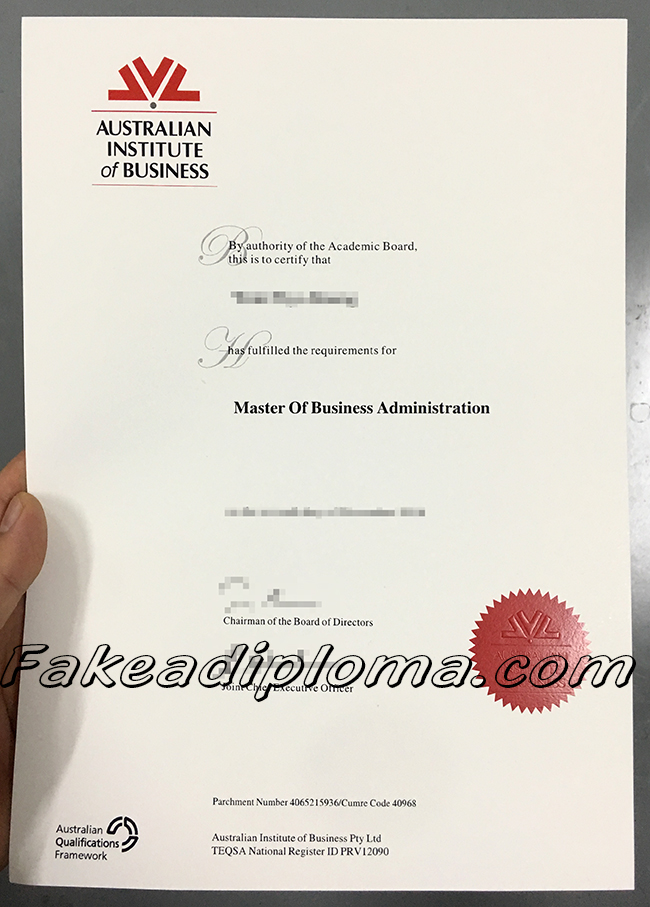 Fake Australia Institute of Business Diploma