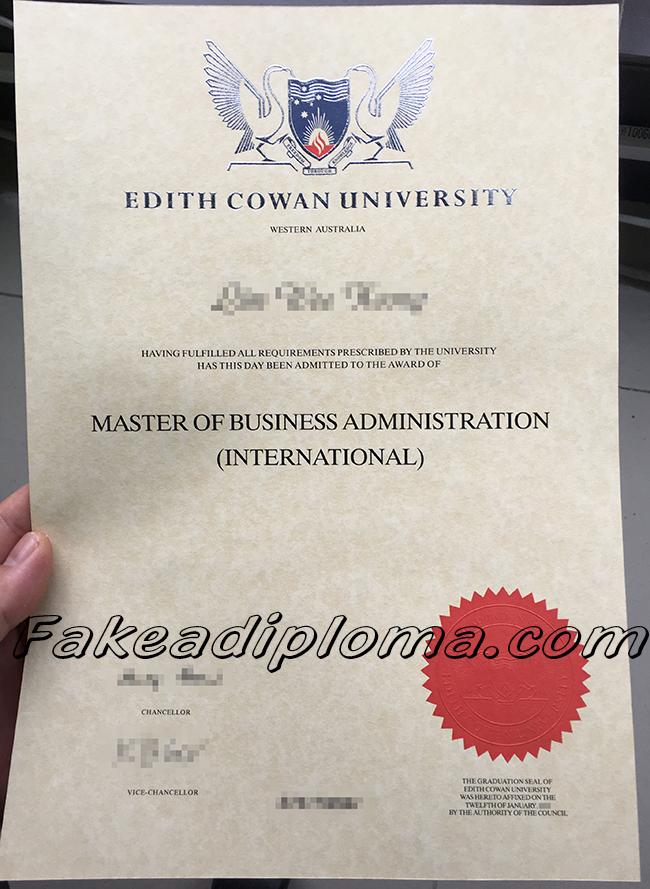 ECU fake diploma, Edith Cowan University fake degree, Australia university fake certificate.