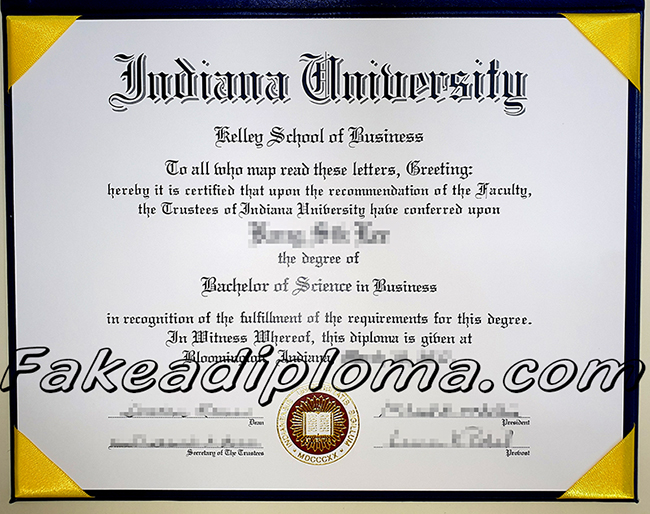 Indiana University fake diploma certificate, IU fake degree, USA University fake diploma.