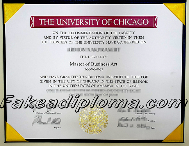 The university of Chicago fake diploma, UChicago fake degree, USA university fake certificate.