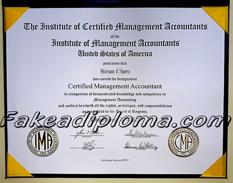 CAM fake diploma certificate, Certified Management Accountant fake degree.
