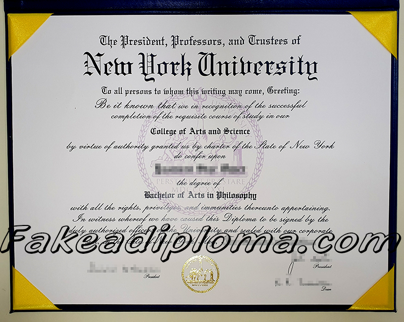 New York University fake diploma certificate, NYU fake degree, USA university fake transcript.