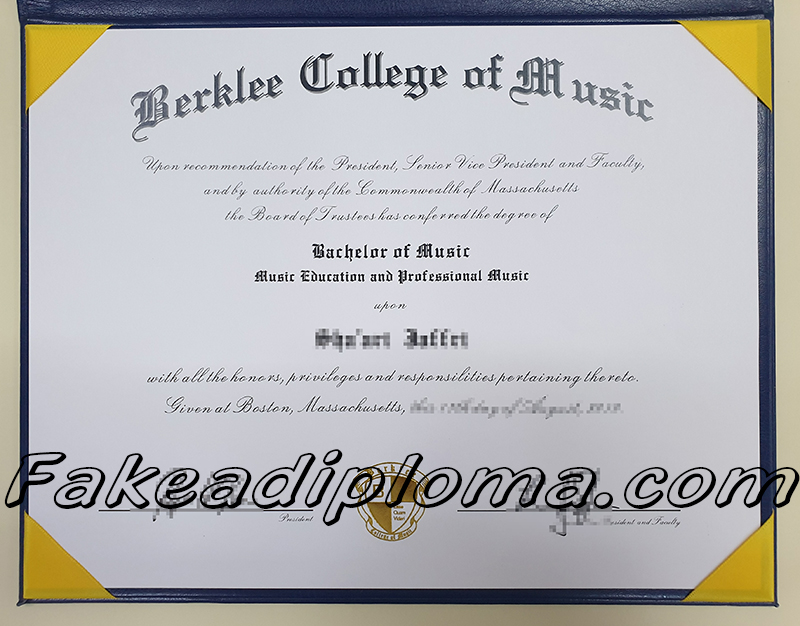 Berklee College of Music fake diploma, USA university fake degree.