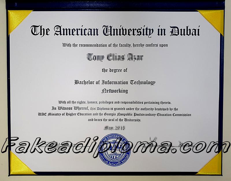 AUD fake diploma, Dubai university fake degree.