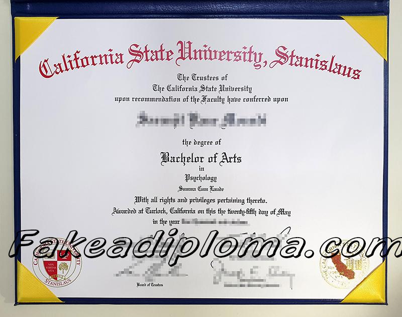 California state university-Stanislaus fake diploma, California state university fake degree.