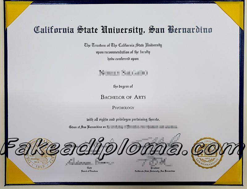 CSUSB fake diploma, American InterContinental University fake degree.