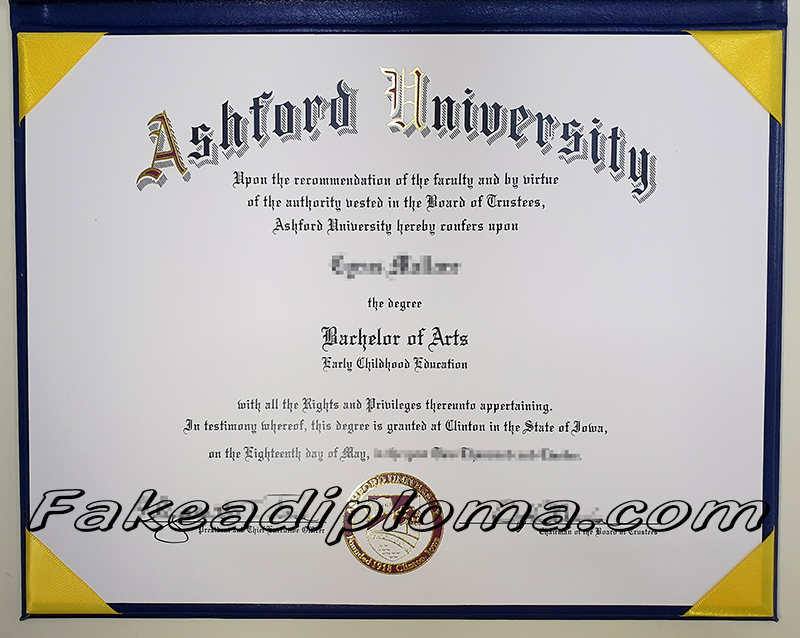 Ashford university fake diploma, USA university fake degree.
