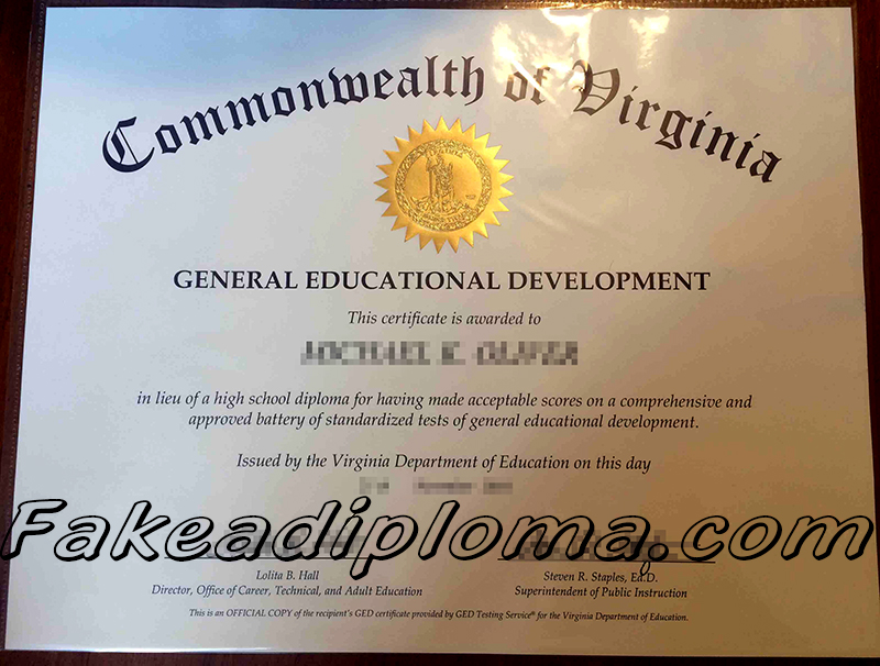 General Educational Development diploma, GED fake degree.