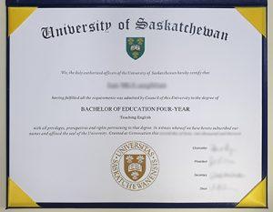 The University of Saskatchewan fake diploma sample