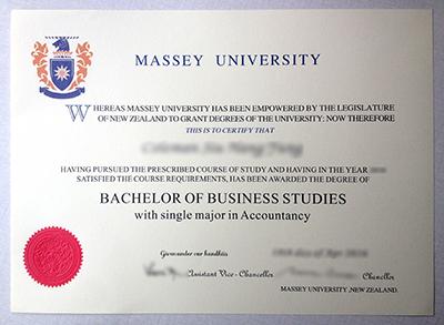 Order the fake Massey University diploma