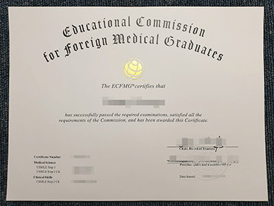 How to Get A Fake ECFMG Certificate?