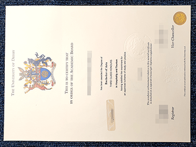 Buy Fake University of Derby Degree Certificate
