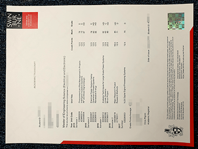 Fake Swinburne University of Technology Transcript, Fake SUT Transcript (2019)
