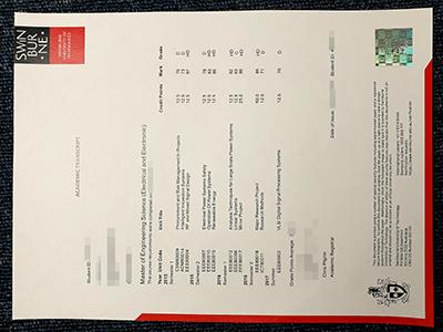 Fake Swinburne University of Technology Transcript, Fake SUT Transcript