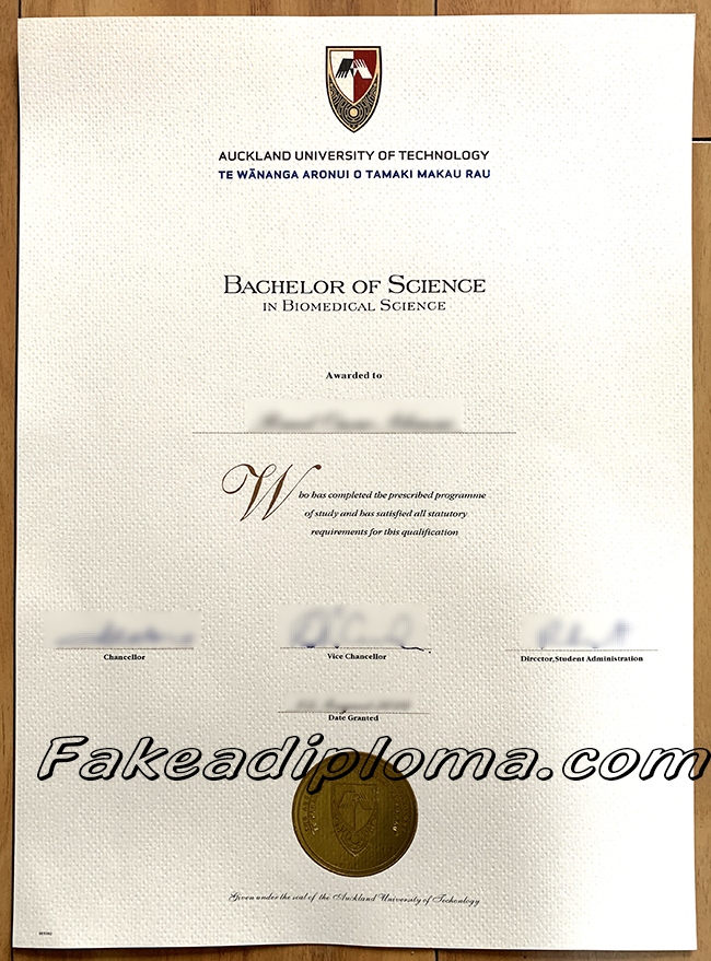 fake Auckland University of Technology diploma, Aut fake degree certificate, New Zealand University fake transcript.