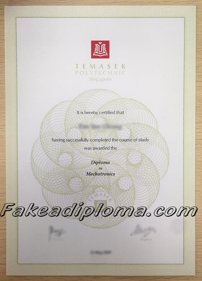 Temasek Polytechnic fake degree, Temasek Poly fake diploma, TP fake certificate, Singapore University fake diploma certificate.