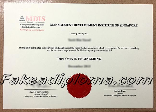 MSIS fake diploma, Management Development Institute of Singapore fake degree, Singapore University fake certificate.