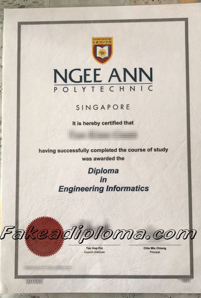 Ngee Ann Polytechnic fake degree, NP fake diploma, Singapore University fake certificate.