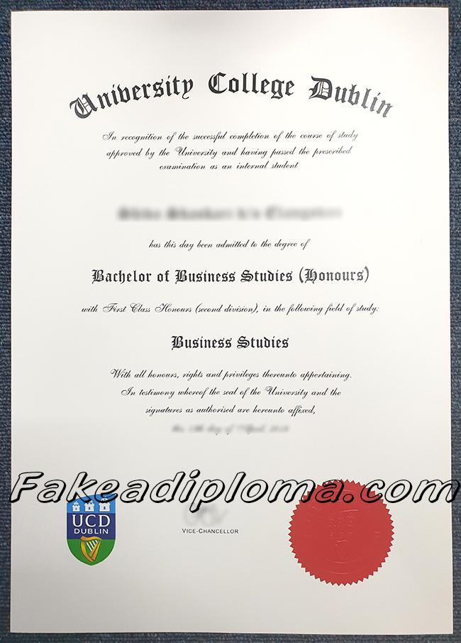 UC Dublin fake diploma, UCD fake degree, University College Dublin fake certificate.