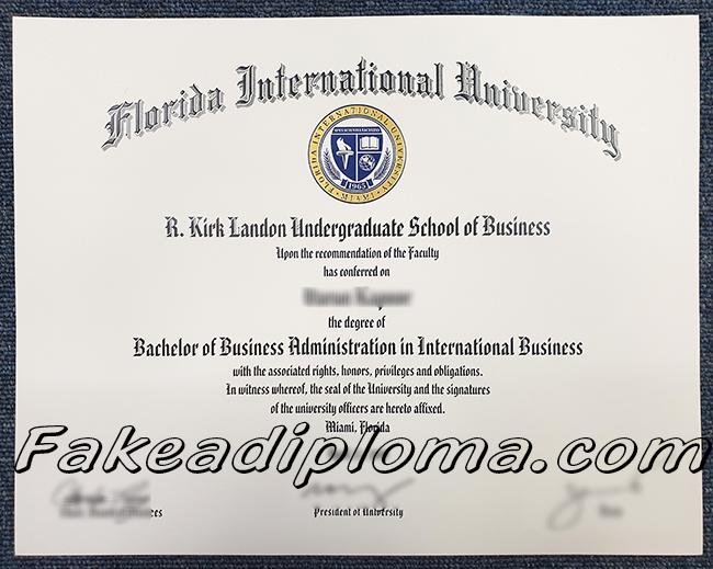 Florida International University fake degree, FIU fake diploma, USA University fake certificate.
