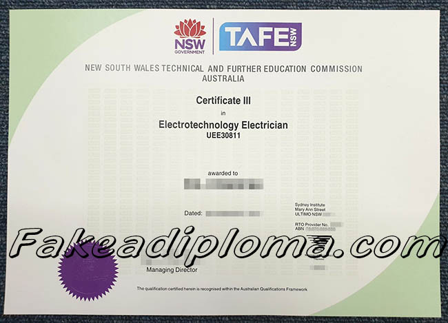 TAFE fake diploma, Technical And Further Education fake degree