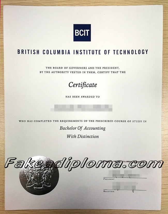 BCIT fake diploma, British Columbia Institute of Technology fake degree