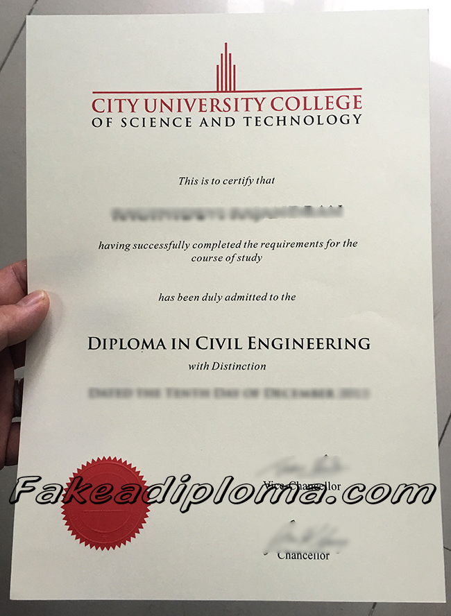 City Univeristy fake diploma, City University College of Science And Technology fake degree, Malaysia University fake certificate.