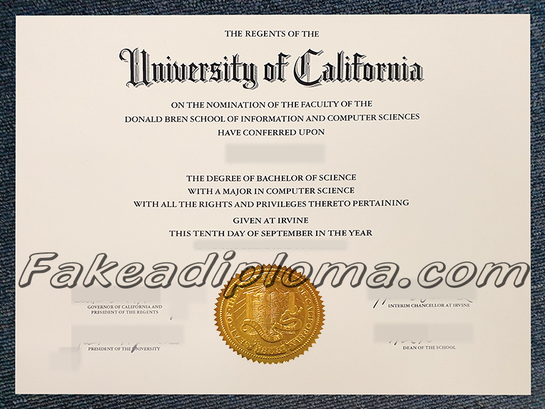 fake University of California diploma