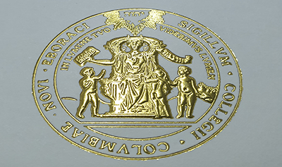 The Fake Columbia University Diploma Certificate Seal