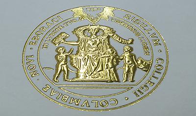 The Fake Columbia University Diploma Certificate Seal