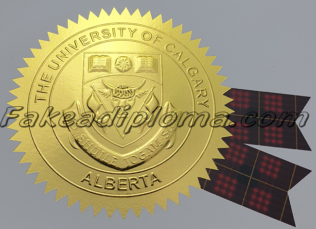 Fake University of Calgary diploma Seal, Fake UCalgary degree seal