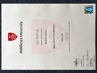 Fake Middlesex University Diploma sample