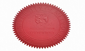 The University of Melbourne diploma Seal