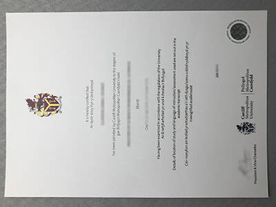 Printing Cardiff Metropolitan University Fake Degree Online