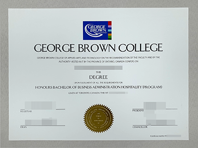 Order A Fake George Brown College Diploma Online