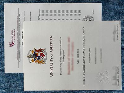 University of Aberdeen Degree&Transcript Sample