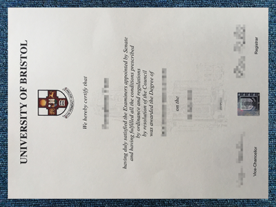 The University of Bristol Diploma Sample