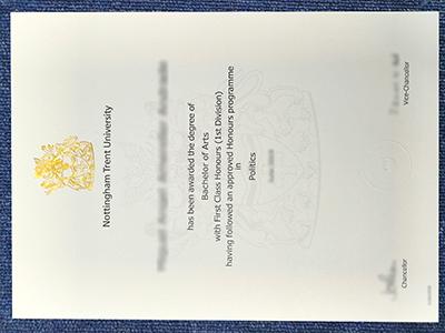 Fake Nottingham Trent University Diplomas